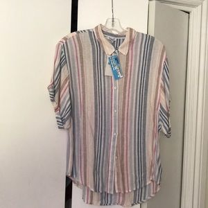 Splendid multi coloured button down blouse
